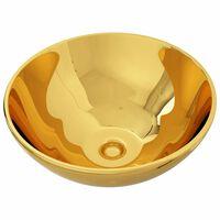 vidaXL Wash Basin 32.5x14 cm Ceramic Gold
