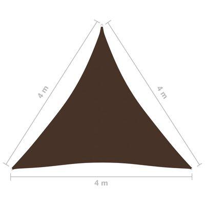 vidaXL Sunshade Sail Oxford Fabric Triangular 4x4x4 m Brown