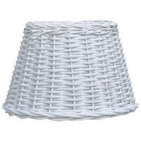 vidaXL Lamp Shade Wicker 38x23 cm White