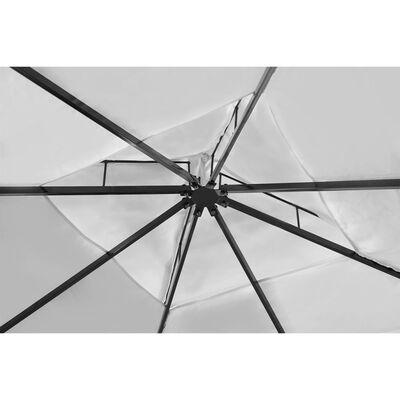 vidaXL Gazebo with Roof 3x3 m Cream White