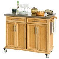 Sobuy Extendable Worktop Kitchen Island Storage Cupboard, Fkw69-n