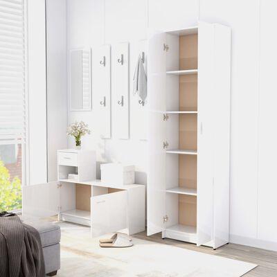 vidaXL Hallway Wardrobe High Gloss White 55x25x189 cm Chipboard