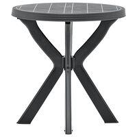 vidaXL Bistro Table Anthracite ?70 cm Plastic