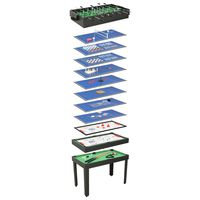 vidaXL 15-in-1 Multi Game Table 121x61x82 cm Black