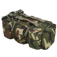 vidaXL 3-in-1 Army-Style Duffel Bag 120 L Camouflage
