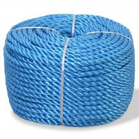 vidaXL Twisted Rope Polypropylene 8 mm 500 m Blue