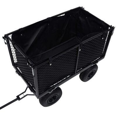 vidaXL Garden Cart Liner Black 86x46x41 cm Fabric