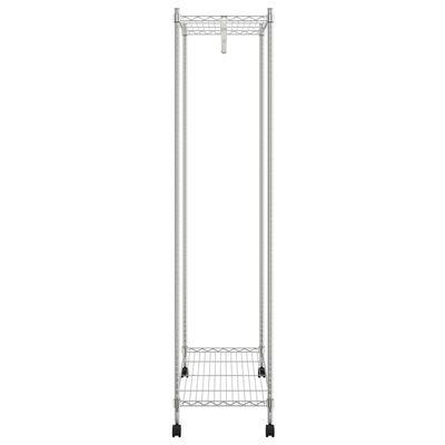 vidaXL 2-Tier Clothes Rack with Wheels 90x45x186 cm Chrome 100 kg