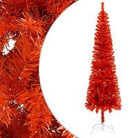 vidaXL Slim Christmas Tree Red 180 cm