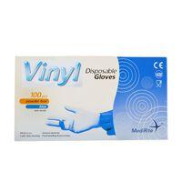 MediRite Vinyl Powder Free Clear Large Disposable Gloves - 10 x 100