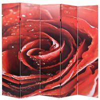 vidaXL Folding Room Divider 200x170 cm Rose Red