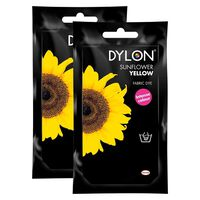 Dylon Hand Fabric Dye Sachet, Sunflower Yellow, 2 Packs Of 50g