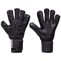Elite Sport Goalkeeper Gloves Black Solo Size 6 Black