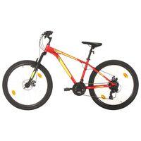 vidaXL Mountain Bike 21 Speed 27.5 inch Wheel 42 cm Red