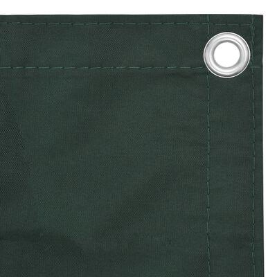 vidaXL Balcony Screen Dark Green 120x300 cm Oxford Fabric