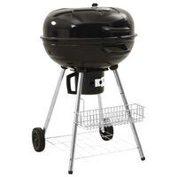 vidaXL Kettle Charcoal BBQ Grill 73x58x96 cm Steel