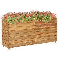 vidaXL Raised Bed 150x40x72 cm Recycled Teak and Steel