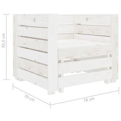 vidaXL 2 Piece Garden Pallet Lounge Set White Wood