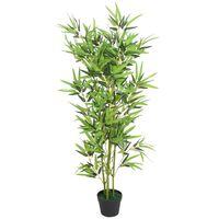 vidaXL Artificial Bamboo Plant with Pot 120 cm Green