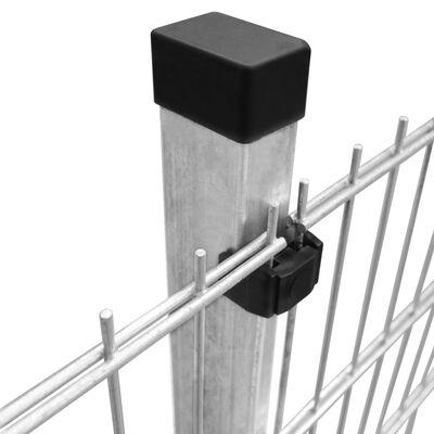 vidaXL 2D Garden Fence Panels & Posts 2008x830 mm 14 m Silver