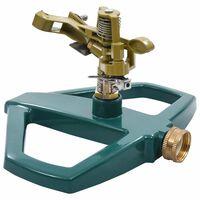 vidaXL Rotary Sprinkler Green 21x22x13 cm Metal