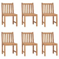 vidaXL Garden Chairs 6 pcs Solid Teak Wood