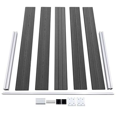 vidaXL Fence Panel Set WPC 526x105 cm Black