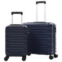 vidaXL Hardcase Trolley Set 2 pcs Navy ABS