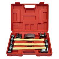 vidaXL 7-Piece Auto Body Hammer and Dolly Dent Repair Set