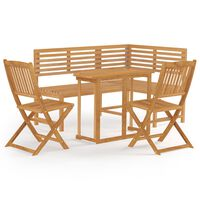 vidaXL 4 Piece Bistro Set Solid Acacia Wood