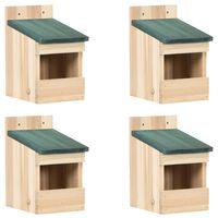 vidaXL Bird Houses 4 pcs 12x16x20 cm Firwood
