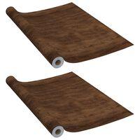 vidaXL Self-adhesive Furniture Films 2 pcs Dark Oak  500x90 cm PVC