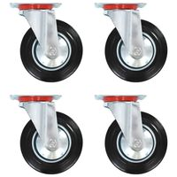 vidaXL 8 pcs Swivel Casters 160 mm