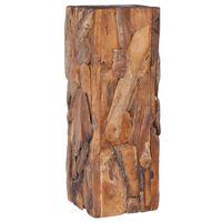 vidaXL Side Table 30x30x80 cm Solid Teak Wood