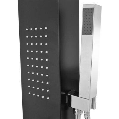 vidaXL Shower Panel System Aluminium Matte Black