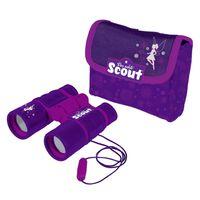 Scout Kid's Binoculars with Neoprene Belt Bag Purple