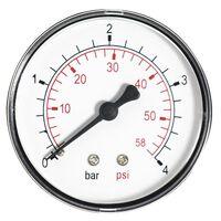 60mm 6 BAR Pressure Gauge Water 1/4 Inch Rear Entry Manometer