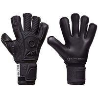 Elite Sport Goalkeeper Gloves Black Solo Size 8 Black