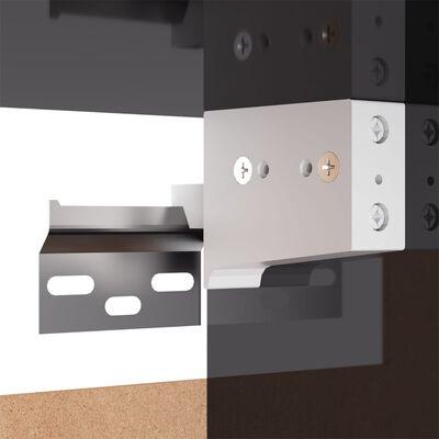 vidaXL TV Cabinets 2 pcs High Gloss Grey 30.5x30x110 cm Chipboard
