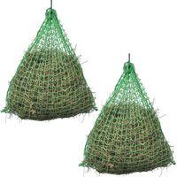vidaXL Hay Nets 2 pcs Round 0.75x0.5 m PP