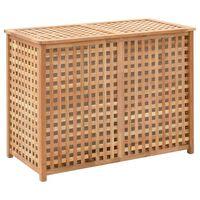 vidaXL Laundry Bin 87.5x46x67 cm Solid Walnut Wood