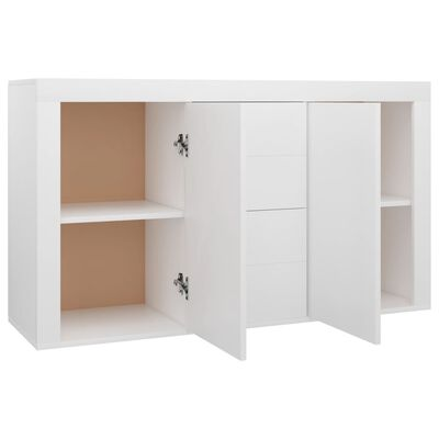 vidaXL Sideboard White 120x36x69 cm Chipboard