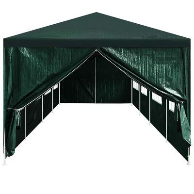 vidaXL Party Tent Doors 2 pcs with Zipper Green