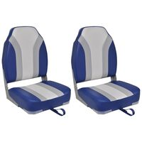 vidaXL Foldable Boat Chairs 2 pcs High Backrest