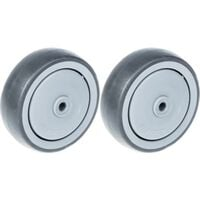 """125mm 5"""" wheel grey rubber with plastic centre strong 260kg capacity,"""