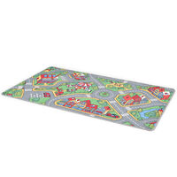 vidaXL Play Mat Loop Pile 170x290 cm City Road Pattern
