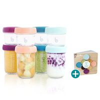 Babymoov Food Storage Containers Babybols 8 pcs Glass