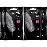 Dylon Hand Fabric Dye Sachet, Smoke Grey, 4 Packs Of 50g