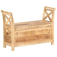 vidaXL Hall Bench 103x33x72 cm Solid Mango Wood