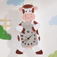 Fantasy Fields Childrens Happy Farm Wooden Cow Wall Clock Kids Bedroom